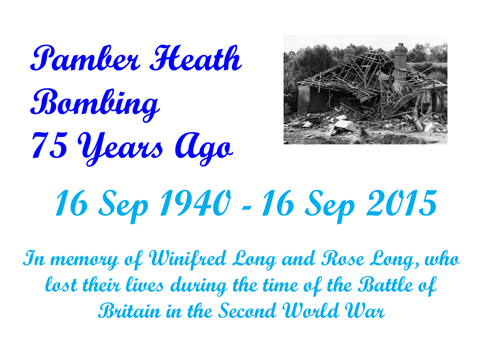 75th Anniversary of the bombing of Pamber Heath